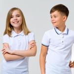 Детские футболки поло: как сочетать со школьной формой